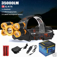 5x XM-L T6 LED Wiederaufladbare USB Zoomable Scheinwerfer Lampe+2X18650 Batterie