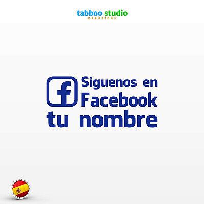Sieguenos en Facebook personalizado Find us on Pegatinas stickers