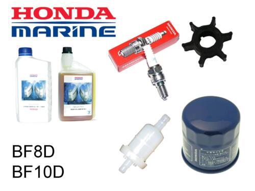 Honda 8//9.9//10hp BF8//BF10 Outboard Service Kit Impeller Spark Plug Fuel Filter