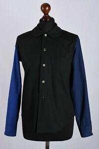 Comme-des-Garcons-Black-Long-Sleeve-Shirt-Size-XS