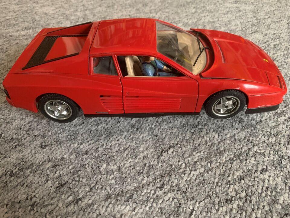 Modelbil, Ferrari Testarossa, skala 1:18