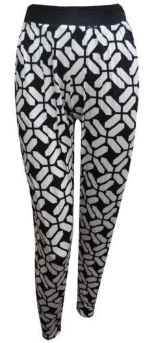 Women Ladies Tye n Dye Multi Aztec Print Ali-Baba Pants Hareem Baggy Trousers