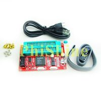51 SP200SE Microcontroller Programmer USB Burner for AT89C52 24C02 93C46 Support