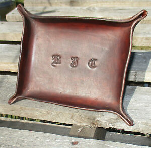 Personalized-Leather-Valet-Tray-trinket-tray-Desk-Tray-Change-tray-bowl