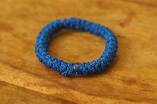 Elastic Orthodox Chotki Bracelet Prayer Rope Komboskini BLUE with a Blue Bead