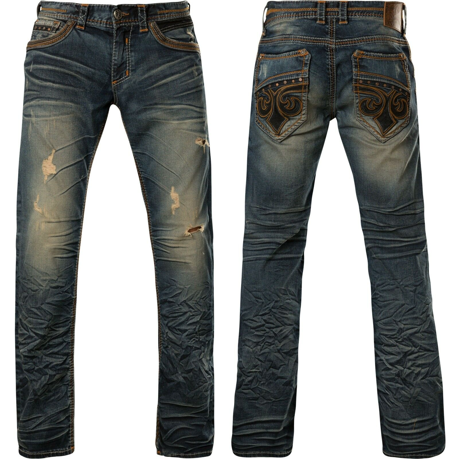 Affliction Jeans Blake Fleur Rogue bluee