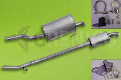 Montagesatz RENAULT CLIO 1.6 Fließheck 98-05 Auspuff Komplette Auspuffanlage