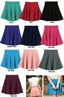 Crossdresser Sissy Candy Color Stretch Waist Skater Flared Mini Skirt