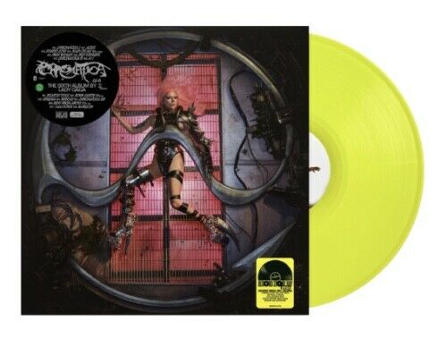Lady GAGA CHROMATICA RSD Ltd Ed. Trifold YELLOW Vinyl LP RECORD STORE DAY SEALED