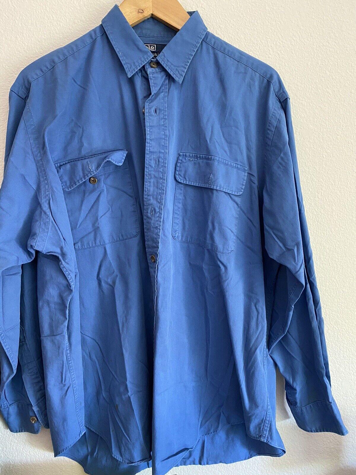 Vintage Polo ralph lauren button down shirt Snow … - image 2