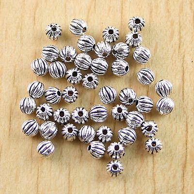 200Pcs Tibtan silver Carved Drum spacer beads h0479