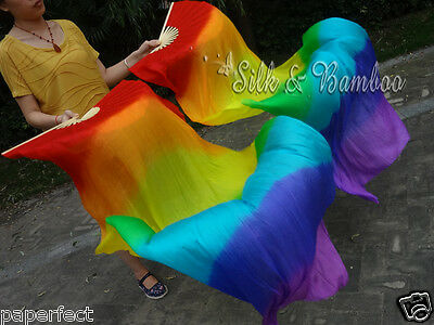 single piece right hand 1.8m=6ft fan veils, in various colors. free shipping!