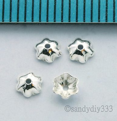 400 pcs x BRIGHT STERLING SILVER SHELL BEAD CAP 3.4mm SPACER BEAD J027H