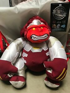 OVERWATCH-SDCC-2016-PRIMAL-RAGE-WINSTON-PLUSH-w-BAG-OFFICIAL-BLIZZARD-EXCLUSIVE