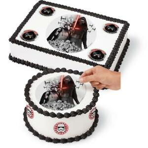 Large Edible Cake Decoration Kit Sugar Sheets Star Wars Half