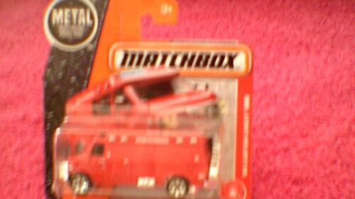 #87 /'95 Custom Chevy Van Bike on Rear Doors UK Card - 2017 Red Matchbox