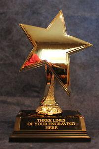 """Gold Awareness Ribbon Trophies 7/"""" Free Engraving"""