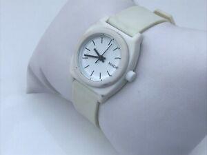 Nixon-Women-Watch-White-Rubber-Band-Minimized-Japan-Movement-Water-Resist-100M