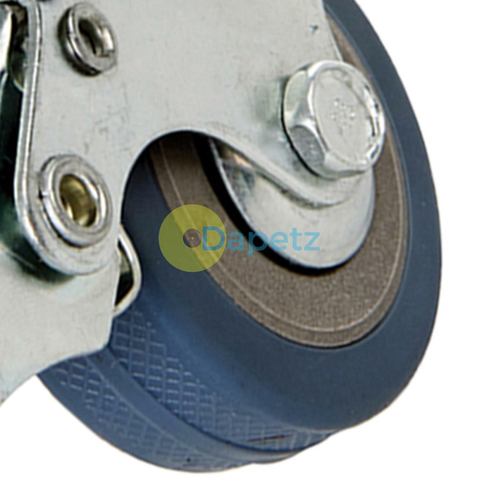 s l1600 - Resistente Giratorio Ruedecilla de Goma Rueda Ruedas Cart Rueda 50mm 10 PC