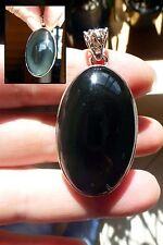 SUPERBE pendentif  en  ARGENT 925 avec obsidienne poinçon