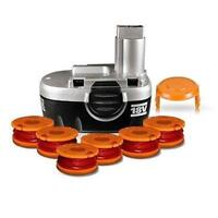 Worx 18v Ni-cad Tune-up Kit (1) Battery, (1) 6-pack Of Spools, (1) Cap Cover on sale