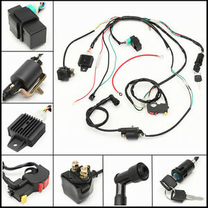 tao 125 wiring diagram chinese cdi 125 wiring diagram for 50 110 125cc cdi wire harness stator assy wiring ...