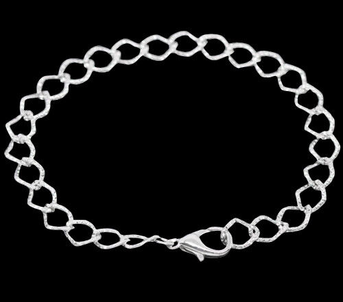 UK Jewellery 5m x Black Metal Alloy 3 X 2.5  Link Trace Necklace Pendant Chain