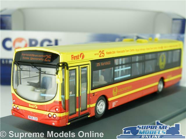CORGI WRIGHT ECLIPSE FIRST POTTERIES OM46018B NEWCASTLE 25 1 76 OOC BUS MODEL K8