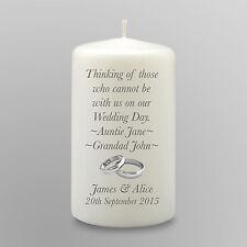 Personalised Wedding Memorial Candle Gift Keepsake In Loving Memory Absence