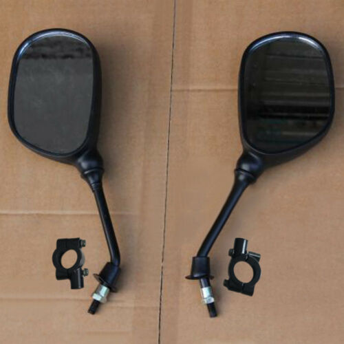 1 Pair Universal Motorcycle ATV Rearview Mirrors w//8mm Mirror Base Adjustable FS