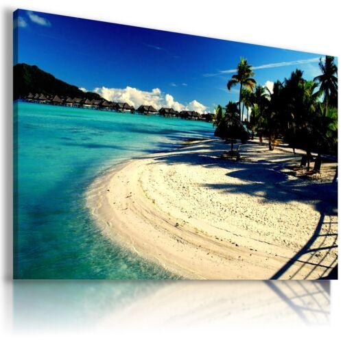 MALDIVES PARADISE BEACH SEA View Canvas Wall Art Picture Large  L152  X  MATAGA
