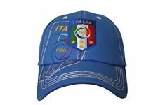 b22418acdec0c Italia Italy Blue FIGC Logo On Brim FIFA Soccer World Cup Embossed Hat Cap .