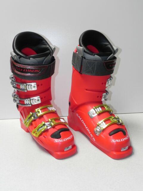 Salomon 7.5 Women 8.5 Men Racing Red Ski Boot Custom Pro X2 Lab Never Worn 25.5