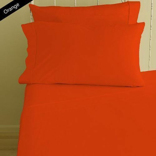 1000TC 100% EGYPTIAN COTTON ALL BEDDING ITEMS SELECT US SIZE COLOR orange SOLID