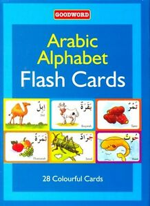 Arabic Alphabet Flash Cards (28 Colourful Cards) (Goodword)
