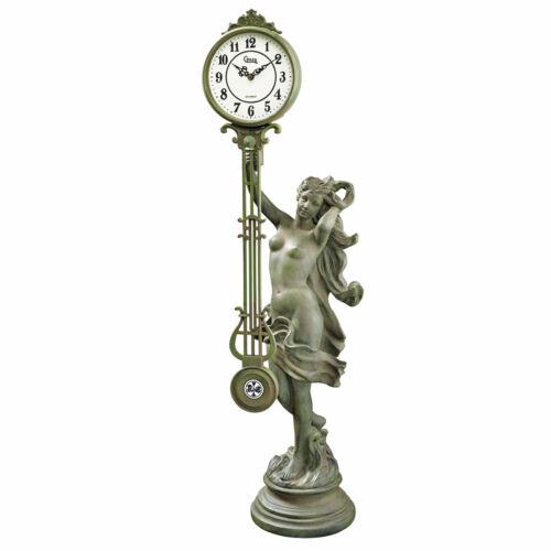 33 French Parisian Antique Replica Nude Maiden Quartz Pendulum Clock Statue