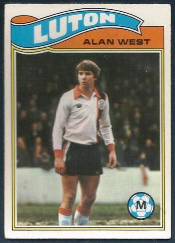 TOPPS 1978 FOOTBALLERS #119-LUTON TOWN-BURNLEY-ALAN WEST