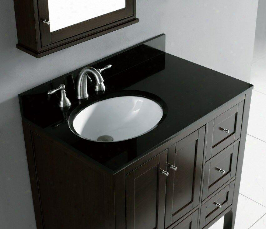 Suneli Madeli 36x22 Torino Black Granite Bathroom Countertop W Backsplash 789 For Sale Online