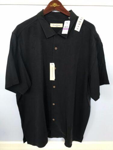 TOMMY BAHAMA RESPUN SILK BARBUDA BLACK CAMP SHIRT XL 2XL 3XL NWT