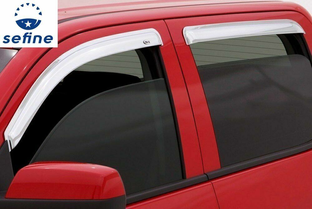 2015-2018 Yukon XL Side Window Visor Sun Rain Deflectors Vent Shades with Logo