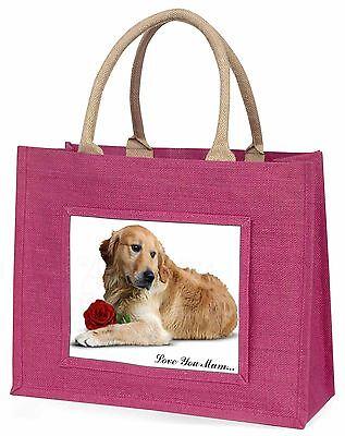 Goldie mit Rosé 'Liebe, die Sie Mama' Große Rosa Einkaufstasche Weihnachten,