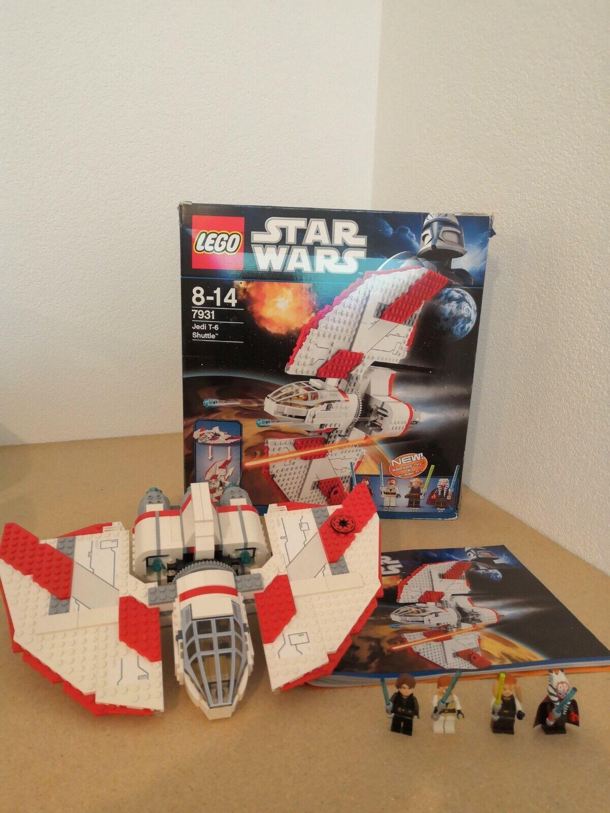 Lego 7931 Star Wars-skyttel T-6 med låda och instruktioner