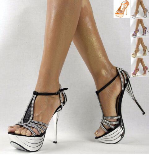 Neu Heels Schuhe Damen Riemchen Luxus High 36 41 Plateau Party Pumps Damenschuhe qnwafESUf