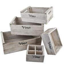 Grau Dadeldo Holzkiste Vintage 40x50x30cm Holz Antik Dekokiste Weinkiste Obstkiste