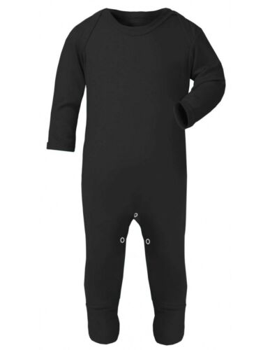 Punk Goth Rockabilly Plain Black Baby Romper Sleepsuit