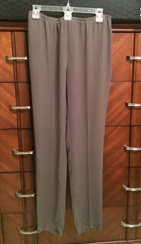 XL NEW EILEEN FISHER RYE SILK GEORGETTE CREPE TAPERED PANT