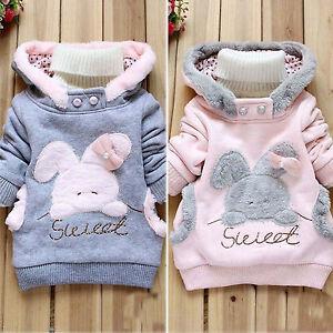 Kids-Baby-Girls-Hooded-Fleece-Sweatshirt-Winter-Warm-Sweater-Coat-Jumper-Top-New