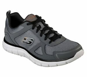 Skechers-Men-039-s-Memory-Foam-shoes-Charcoal-Sport-Comfort-Train-Mesh-Sneaker-52631
