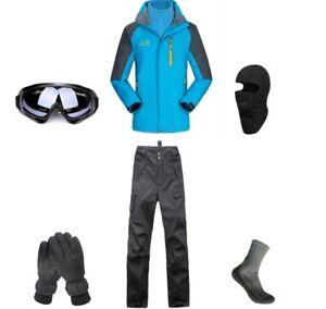 D65-Men-Ski-Snowboard-Jacket-Pants-Gloves-Goggles-Balaclava-Socks-S-M-L-XL-XXL