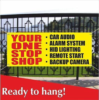 YOUR ONE STOP SHOP Banner Vinyl Mesh Banner Sign Flag Car Audio Alarm System